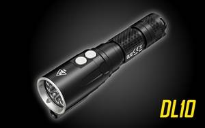 NITECORE DL10 1000 Lumen White/Red LED 30m Submersible Waterproof Diving Flashlight