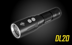NITECORE DL20 100m Underwater Submersible 1000 Lumen Dive Light with Red Light