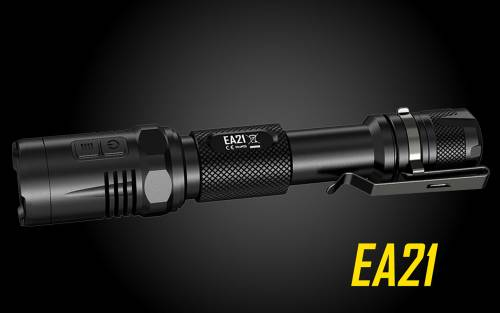 Nitecore EA21 360 lumen Cree XP-G2 LED Flashlight w/ Red Lite - Uses 2xAA