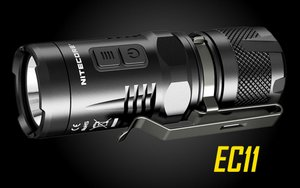 NITECORE EC11 Brightest Mini LED Flashlight -Use 1x (R) CR123A-900 Lumen