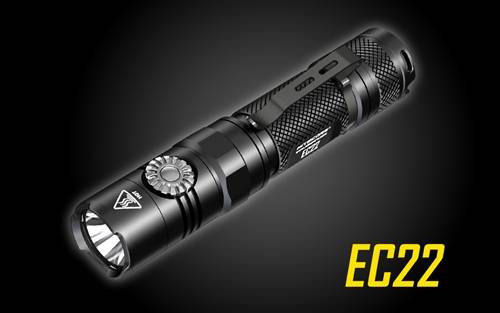 NITECORE EC22 Infinitely Variable Brightness 1000 Lumen Compact Everyday Carry LED Flashlight