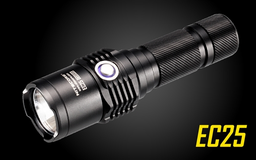 Nitecore EC25 860 Lumens LED Flashlight - Uses 2x CR123A or 1x18650