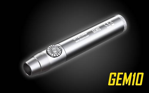 NITECORE GEM10 Infinitely Variable Brightness 800 Lumen Gem Identification LED Flashlight