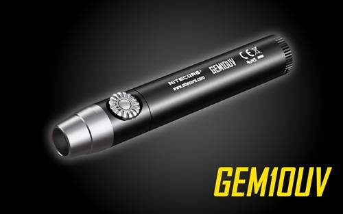 NITECORE GEM10UV Infinitely Variable Brightness Ultraviolet Gem Identification LED Flashlight