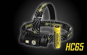 NITECORE HC65 1000 Lumen White/Red/High CRI USB Rechargeable Headlamp