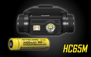 NITECORE HC65M 1000 Lumen Rechargeable NVG Mount Headlamp with Red Light and High CRI Light