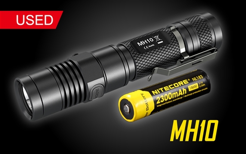 Nitecore MH10  Compact USB Rechargeable LED Flashlight w/ Battery-1000 Lumen - Used