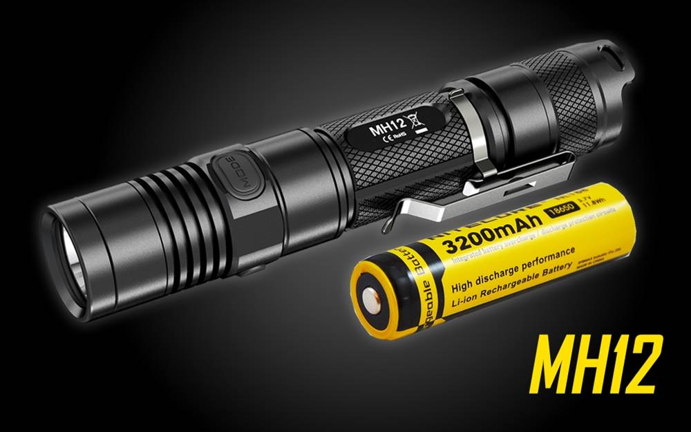 Nitecore Mh12 1000 Lumens Usb Rechargeable Led Flashlight