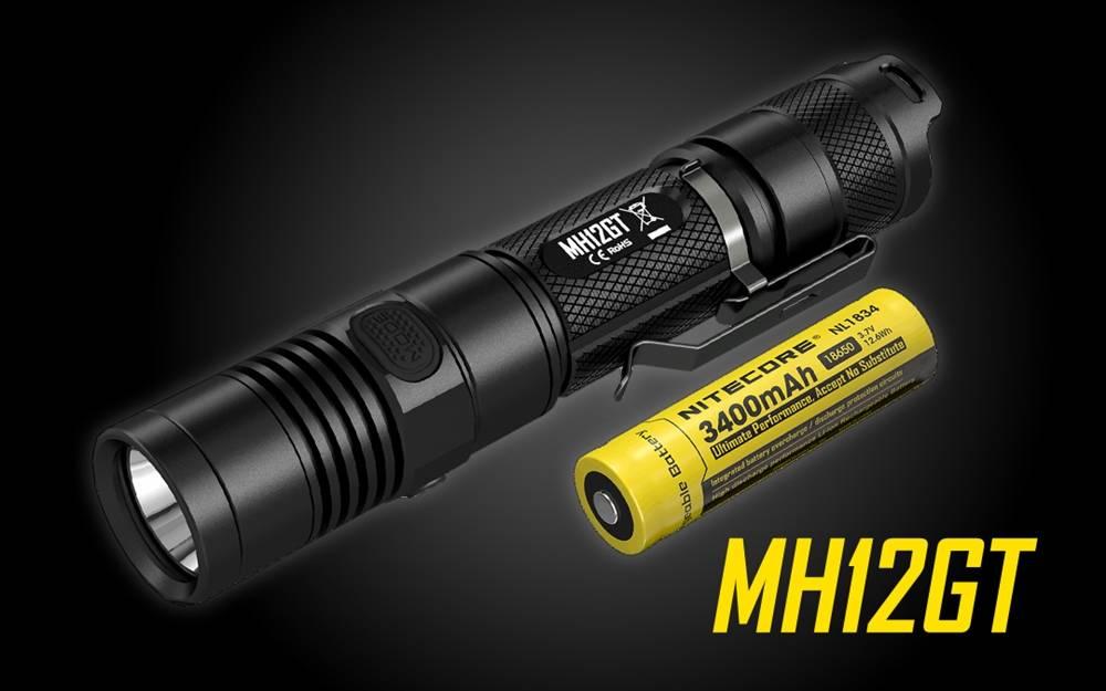 NITECORE MH12GT 1000 Lumen 350 Yard Throw USB Rechargeable Compact  Flashlight - MH12 Upgrade