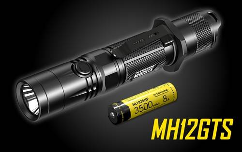 NITECORE MH12GTS 1800 Lumen Long Throw USB Rechargeable Flashlight