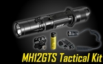 NITECORE MH12GTS 1800 Lumen Long Throw USB Rechargeable Tactical Flashlight Kit
