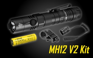 NITECORE MH12 v2 1200 Lumen USB-C Rechargeable Flashlight with 5000mAh Battery