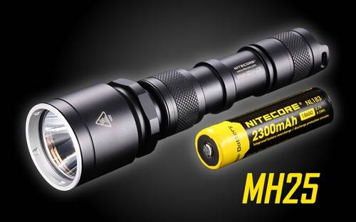 Nitecore MH25 Rechargeable LED Flashlight - Use 2x CR123A or 1x 18650-960 Lumen