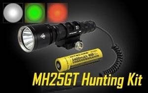 Nitecore MH25GT Rechargeable LED Flashlight Hunting Kit