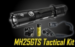 NITECORE MH25GTS 1800 Lumen USB Rechargeable Tactical Flashlight Kit