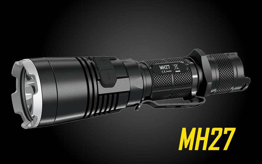 Nitecore Mh27 1000 Lumen Red Green Blue Light Led Flashlight