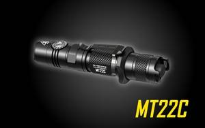 NITECORE MT22C 1000 Lumen Infinitely Variable Brightness Rotary Switch Compact Tactical LED Flashlight