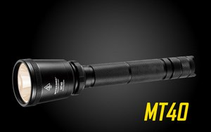Nitecore MT40 960 Lumen LED Flashlight - Uses 2x18650 or 4x CR123A