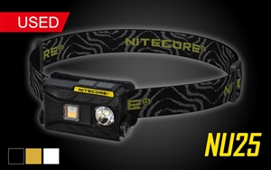 NITECORE NU25 360 Lumen Triple Output White, Red, High CRI USB Rechargeable Headlamp - Used