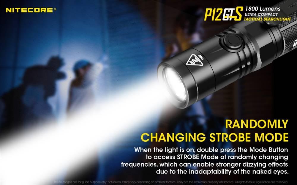 1800 Lumens w// Remote Pressure Switch /& Ec Nitecore P12GTS Tactical Flashlight