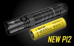 NITECORE NEW P12 1200 Lumen Tactical Flashlight with 4000mAh 21700 li-ion Rechargeable Battery