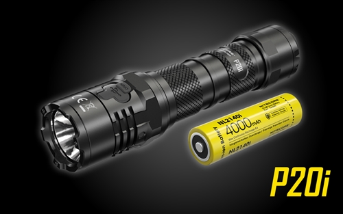 NITECORE P20i 1800 Lumen USB-C Rechargeable Strobe Ready Tactical Flashlight