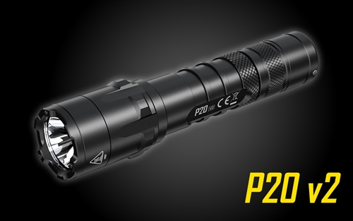 NITECORE P20 V2 1100 Lumen Long Throw Tactical Flashlight with Custom Moulded Holster