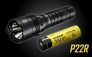 NITECORE P22R 1800 Lumen USB-C Rechargeable Strobe Ready Tactical Flashlight