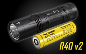 NITECORE R40 v2 1200 Lumen USB-C Rechargeable Work LED Flashlight with Wall Mount and Desktop Charging Docks