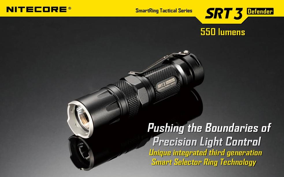 nitecore srt3 500 lumen smartring led flashlight