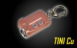 NITECORE TINI 380 Lumen Super Small USB Rechargeable LED Keychain Flashlight (Copper)