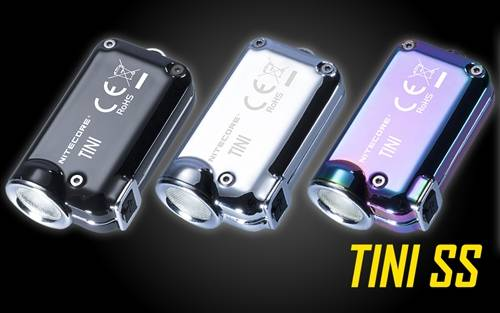 NITECORE TINI SS 380 Lumen Super Small USB Rechargeable Keychain Flashlight (Stainless Steel)