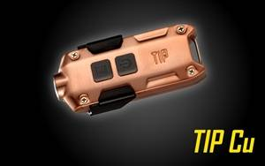 NITECORE TIP 2017 360 Lumen Rechargeable Keychain Flashlight (Copper)