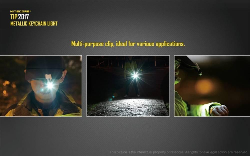 Copper NITECORE TIP 2017 360 Lumen Rechargeable Keychain Flashlight
