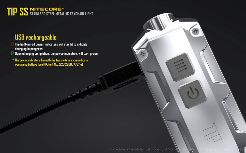 Tropical Nitecore TIP 2017 SS 360 Lumen USB Rechargeable Keychain Flashlight