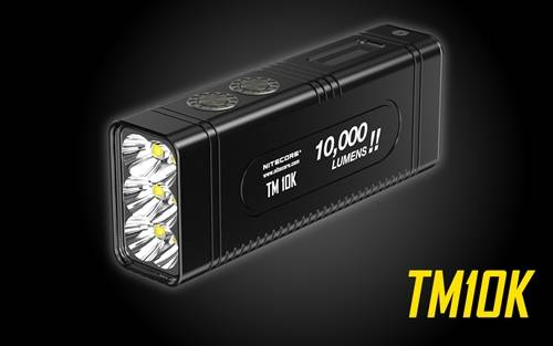 NITECORE TM10K Tiny Monster 10,000 Lumen Burst Rechargeable Flashlight