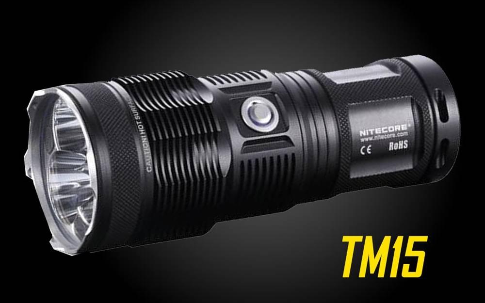 Rechargeable Nitecore 2650 Monster Led Lumen Tiny Tm15 Flashlight TclKF31J
