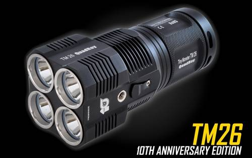 NITECORE TM26 Limited Edition 4000 Lumen Tiny Monster QuadRay Rechargable LED Flashlight