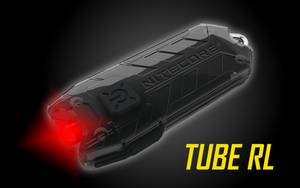 Nitecore Tube RL USB Rechargeable Red LED Keychain Light