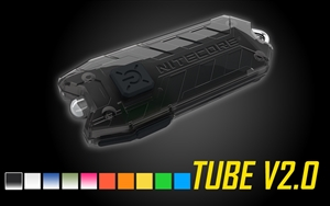 NITECORE TUBE V2.0 55 Lumen USB Rechargeable UltraLight Keychain Flashlight