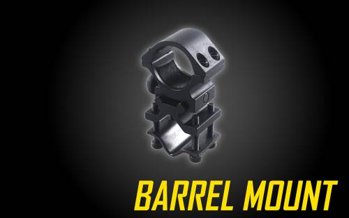 Universal Barrel & Rail Mount for 1 inch Tactical Flashlights