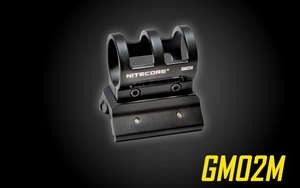 "NITECORE GM02M 1"" Magnetic Barrel Gun Mount for P10GT P12 P12GT P30 MH10 MH12GT MH25GT SRT7GT CR6 CG6 CU6"