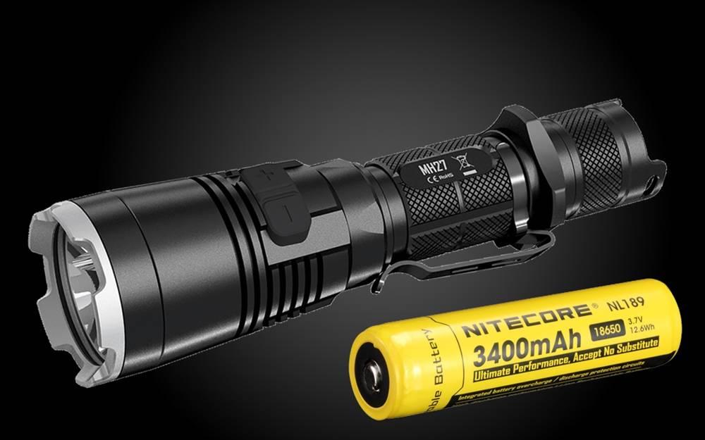 NITECORE MH27 Tactical LED Rechargeable Flashlight 1000 Lumens