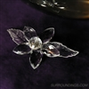 "2.5"" acrylic clear flower with slant bowl and large rose candle"