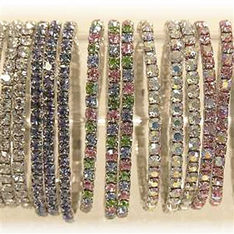 Assorted crystal vase bands