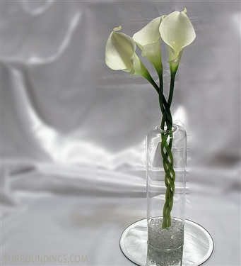 Dome glass bud vase