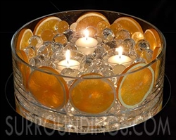 Glass cylinder bowl for floating candle centerpieces