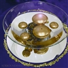 Glass centerpiece bowl for table top decorating