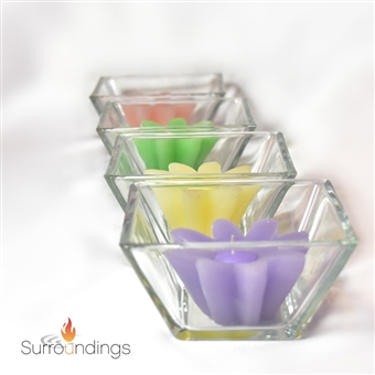 "2.5"" Square flare glass bowl"