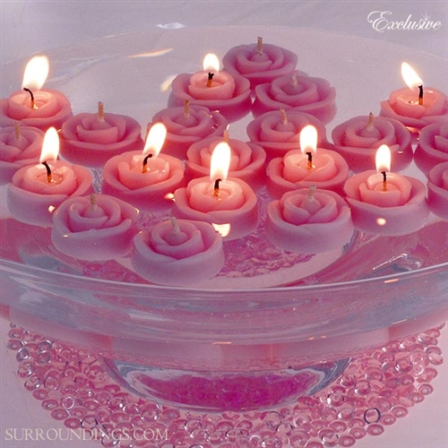 Baby buds floating rose candles